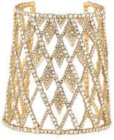 Alexis Bittar Crystal Lattice Cuff Bracelet, Golden