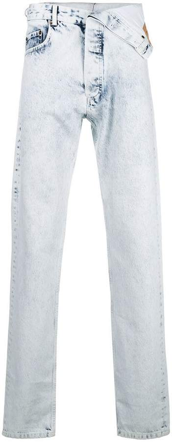 Y/Project Y / Project asymmetric slim fit jeans