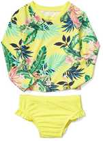 Gap Floral rashguard two-piece