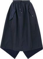Kenzo flap pocket full skirt - women - Cotton/Polyamide - 36