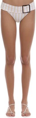 WeWoreWhat Annie Belted Striped Bikini Bottoms