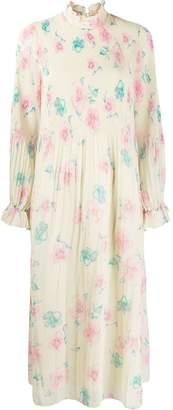 Ganni floral smock dress
