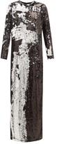 Marques Almeida Marques'almeida - Two-way Sequinned Occasion Dress - Womens - Silver