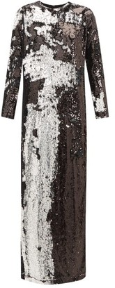 Marques Almeida Marques'almeida - Two-way Sequinned Occasion Dress - Womens - Silver