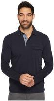 Nautica Long Sleeve Shipman Polo w/ Pocket Men's Clothing