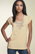 Haute Hippie 'Necklace' Embellished Tee