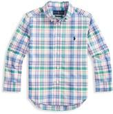 Ralph Lauren Little Boy's & Boy's Plaid Poplin Shirt