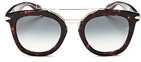 Rag & Bone Women's Brow Bar Round Sunglasses, 50mm