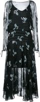 Preen Line constellation print dress - women - Silk - XS