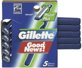 Gillette Good News Pivot Plus Disposable Razors, 5 Count- Packaging May Vary