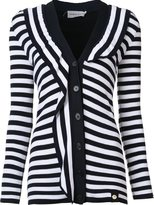 Sonia Rykiel striped cardigan - women - Cotton/Viscose - XS