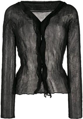 Issey Miyake chiffon twist blouse