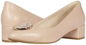 Cole Haan Nala Pump WP (35 mm) (Mahogany Rose Leather/Tonal Chalk Python Print Leather/Gold) Women's Shoes