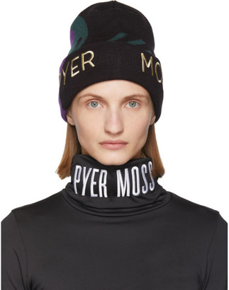 Reebok by Pyer Moss Black and Green Wave Beanie