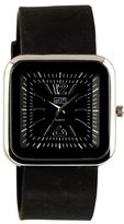 Eton Ladies Square Black Silicon Strap Watch 2897-0