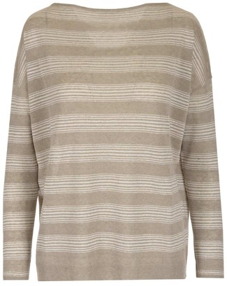 Brunello Cucinelli Boat-Neck Striped Sweater