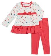 Nannette Little Girl's Heart Tunic and Leggings Set