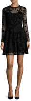 Cynthia Rowley Flocked Tulle Layered Dress