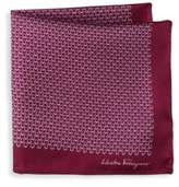 Salvatore Ferragamo Gancini Silk Pocket Square