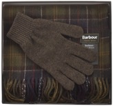 Barbour Lambswool Scarf And Gloves Giftset Green
