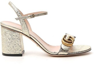 Gucci Metallic Laminate Sandals