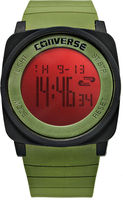 Converse Watch, Unisex Digital Full Court Army Green Silicone Strap 45mm VR034-305