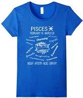 Men's Pisces Horoscope Star Sign T-Shirt Small
