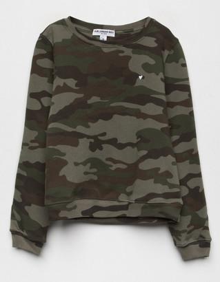 Sub Urban Riot Heart Camo Girls Sweatshirt