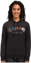 Life is Good Love Stripe Go-To Pullover Hoodie