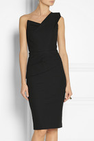 Roland Mouret Pernice pleated stretch-cotton dress