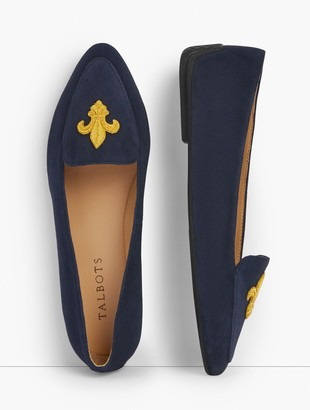 Talbots Francesca Embroidered Driving Moccasins