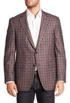 COLLECTION BY SAMUELSOHN Classic-Fit Plaid Wool & Cashmere Sportcoat