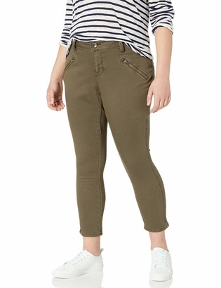 Jag Jeans Women's Plus-Size Ryan Skinny Jean in Color Knit Denim - Saddle