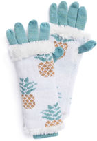 Muk Luks Pineapple 3-In-1 Knit Cold Weather Gloves