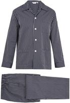 Derek Rose Royal striped cotton pyjama set