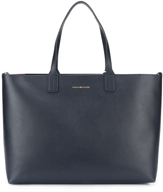 Tommy Hilfiger Turnlock leather tote