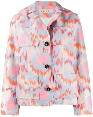 Marni Multicolored Abstract Print Jacket