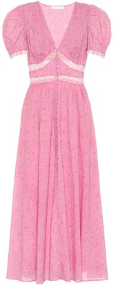 LoveShackFancy Exclusive to Mytheresa a Stacy loral cotton midi dress