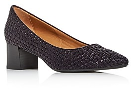 Aquatalia Women's Pasha Woven Leather Pumps