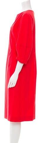 Thumbnail for your product : Oscar de la Renta 2018 Midi Length Dress Red