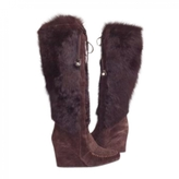 Celine Brown Suede Boots