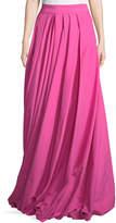 Rosie Assoulin Pleated Poplin High-Waist Maxi Skirt