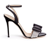 Giuseppe Zanotti Design 'Kloe' glass crystal band satin ribbon sandals