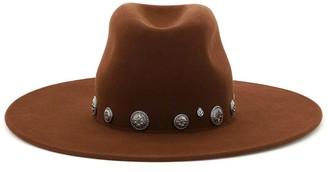 Maison Michel Eliza Fedora Hat With Studs
