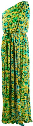 Versace baroque leopard print maxi dress
