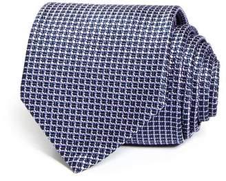 BOSS Micro Diamond Grid Skinny Tie