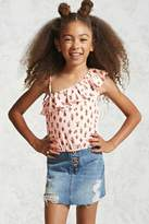 Forever 21 Girls Cactus Flounce Top (Kids)