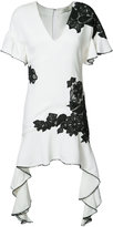 Jonathan Simkhai contrast lace flutter dress - women - Viscose - 12