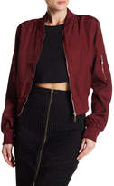 Wow Couture Lace-Up Back Bomber Jacket