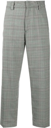 Carhartt Wip Check-Print Cropped Trousers